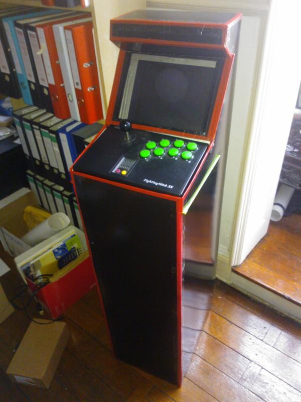 borne arcade en carton