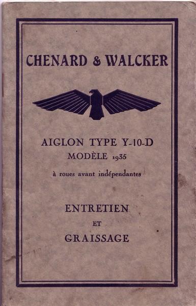 Ma Chenard & Walcker Y10D de 1934 V4i4