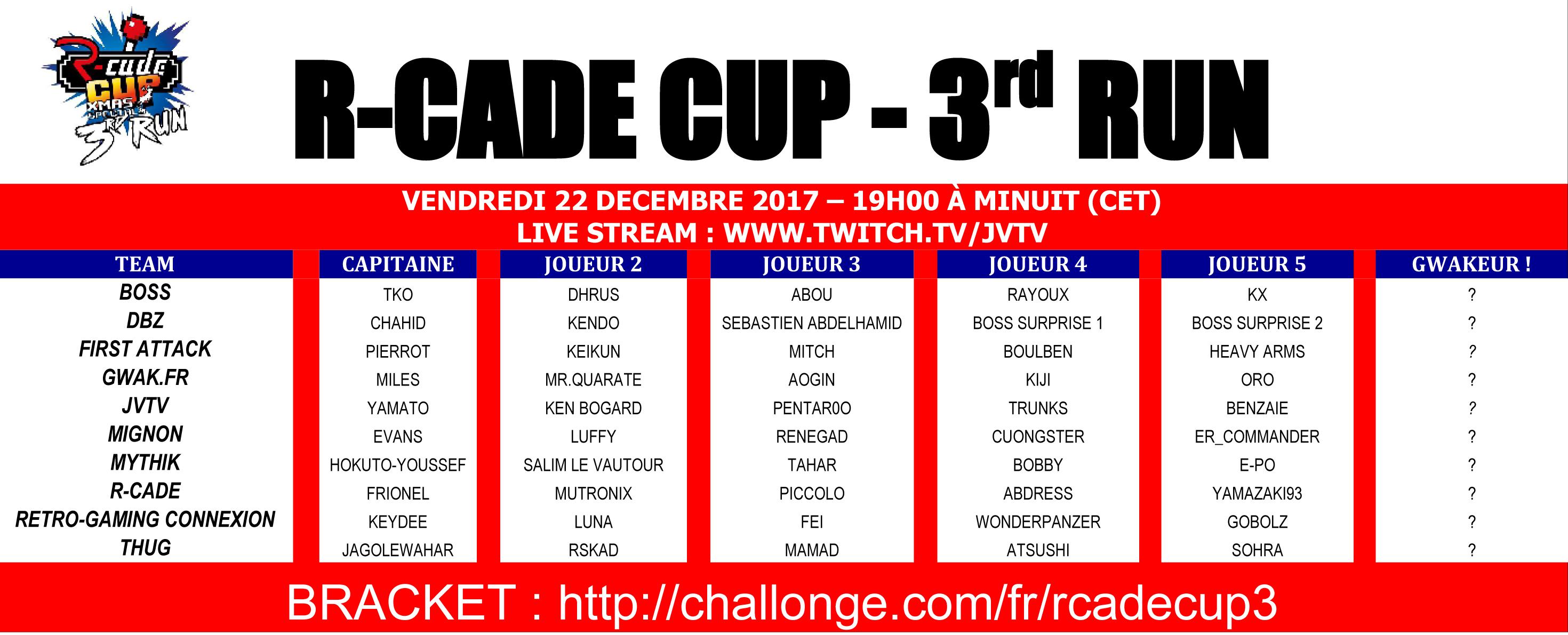 [R-Cade Cup] L'association RGC aura son équipe ! Vendredi 22 décembre ZjGB