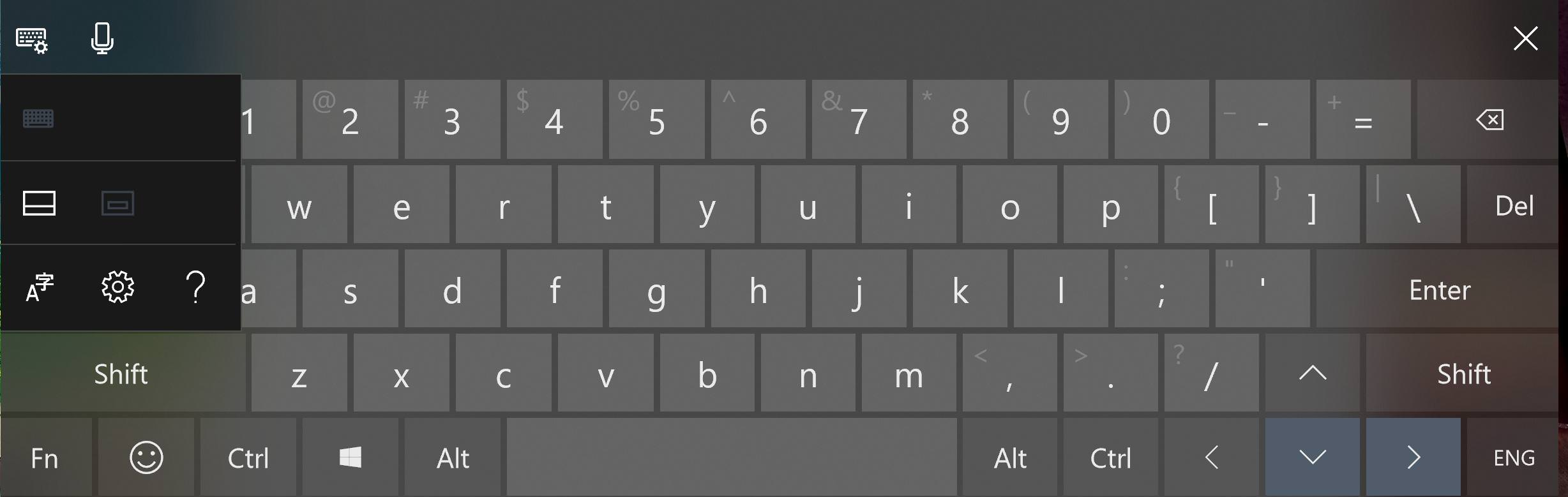 Creating a custom touch keyboard layout for Windows 10 (1803